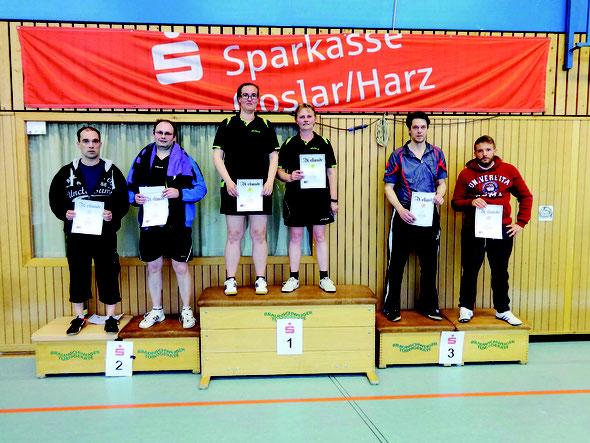 Jessica Brede und Kerstin Gerndt belegten den 1. Platz beim 2. Goslarer Corbillon-Cup 2016.