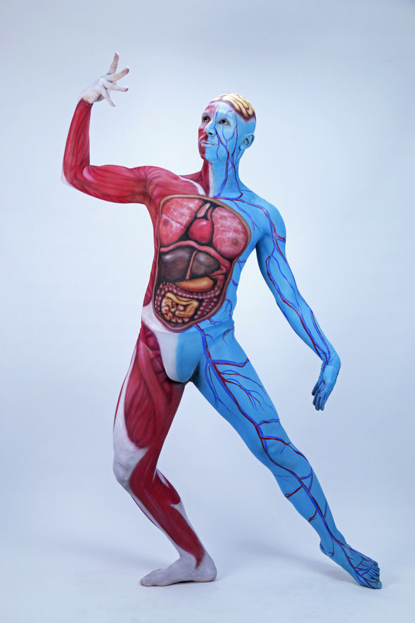 Human Sistem Body Painting by Artmakerstudio