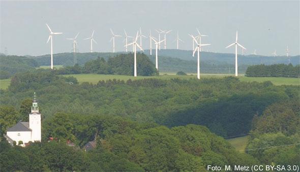 Windkraftanlagen im Westerwald (DE)