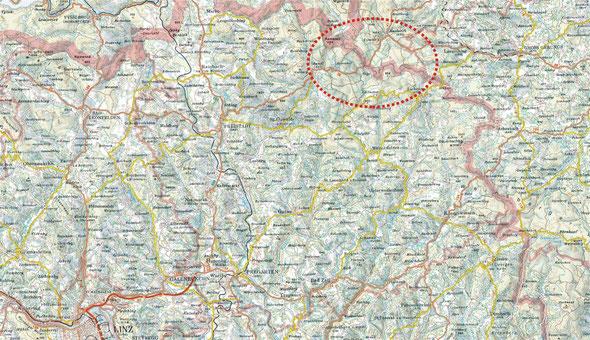 Orientierungskarte (Kartengrundlage: DORIS 2013) - zum Vergrößern auf Karte klicken.