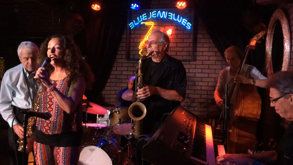 Phyllis Moon & Jimmy Cavallo's Jazz Band with Danny Burger Band at the Blue Jeans Blues Jazz Club, in Ft. Lauderdale, Florida, U.S.A.