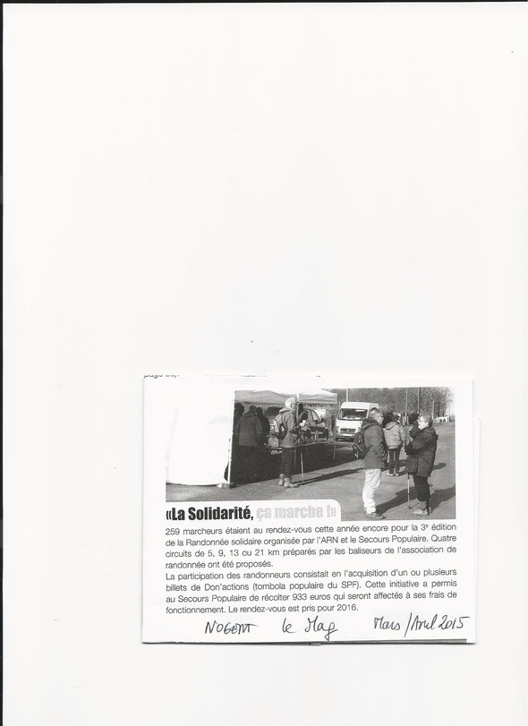 Article dans NOGENT  le mag  MARS / AVRIL  2015