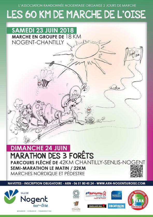 3 eme édition des  60 km de  l'oise   et  4 eme  édition du Marathon des  3 forêts .