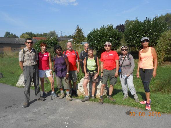 Interclub de  Dreslincourt -  20 km  sous le soleil  - trés  beau parcours avec quelques  montées et des descentes...
