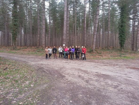 le groupe de  Marche nordique   Verneuil  15 02 2014