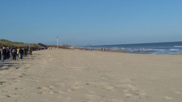 01/05/2016 :  la plage  vers un  parcours  plus bucolique que le  1 er parcours de  la  veille .