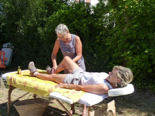 A senlis , nous avons  prévu une scéance de  massage pour les  volontaires.