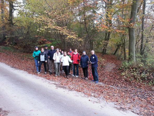 le groupe  - Etang de Commelles 16 nov 2013