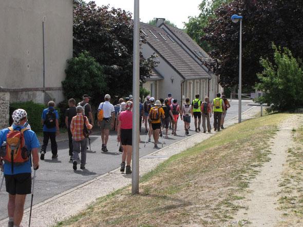 Passage  à verneuil  -   plus de  63 participants à cette  manifestation sur la  jounée.