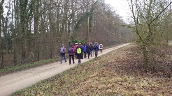 Rando  9 km  -  le  parc des  Aigles  -  12 fevrier  2017
