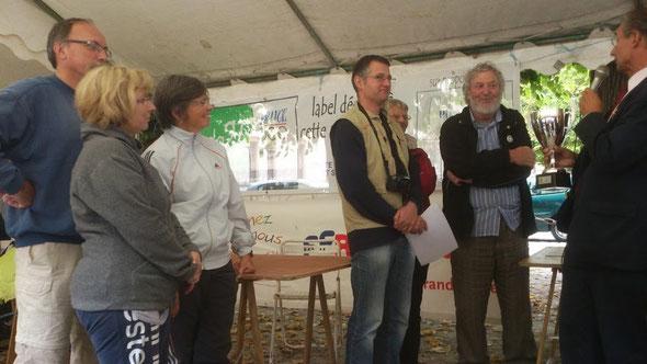 le discours de remise de la coupe de  champion de  Picardie  de la  RANDO CHALLENGE 2012.