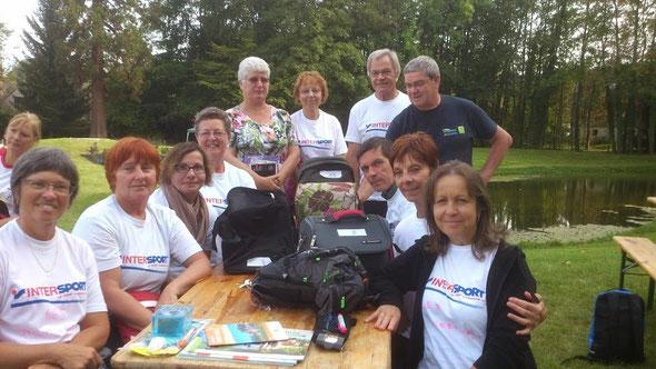 Une  partie de  nos  4 equipes de  Rando Challenge Découverte. Cette  manifestation était  une  totale réussite .  Merci aux organisateurs de  le  F.F. du Val d'Oise .