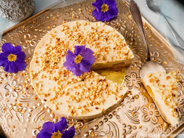Veganer Panna cotta Kuchen