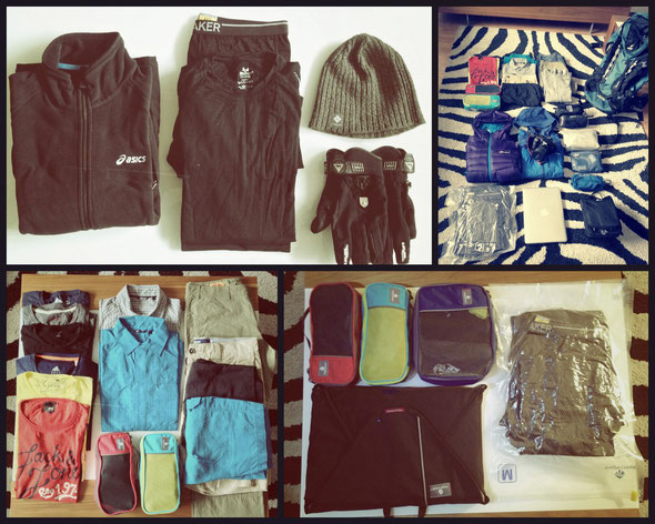 Kleidung Gepäck Reiseausrüstung