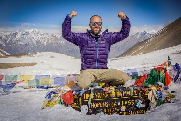 Auf dem Gipfel Thorung Pass