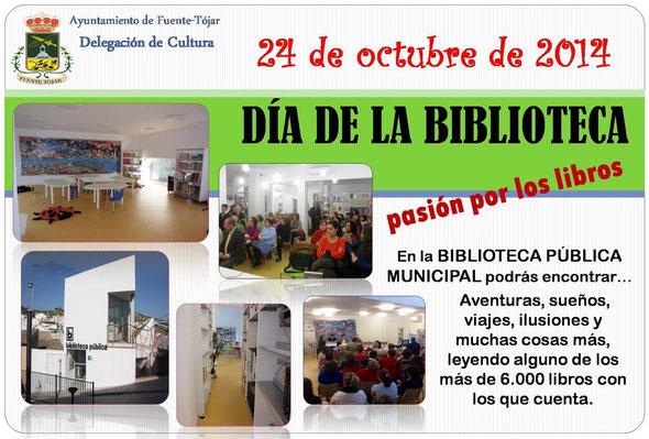 Cartel conmemorativo del Día Internacional de las Bibliotecas