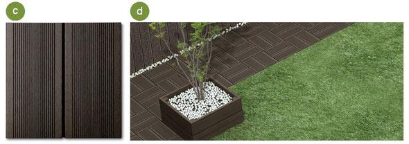 ※人工芝は天然芝もお選びいただけます。さらに、芝面をすべてデッキプレートにすることも可能です。