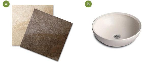 innovationのオンラインショップ「+1 STYLE」でご購入いただける家具やツールのコーディネート性を考えて、シックなタイルを選びました。5月からはプランも一新し、タイルもグレードアップ。複数の柄模様がミックスされている天然石調の表情が上質な空間をアレンジ。もちろん汚れもさらに目立ちにくく、滑りにくい素材ですので、お子様にも安心。