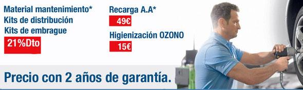 precios ajustados con dos años de garantía sin limite de kilómetros.