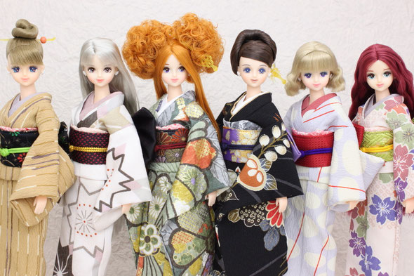 kimono dolls,人形 着物