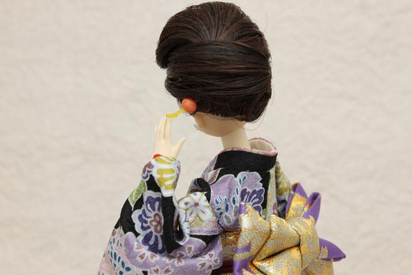 ジェニーの振袖とお人形かんざし