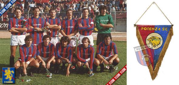 Immagine presa da 11leoni.com Formazione Potenza Sport Club 1981/82, Gagliardetto Potenza Sport Club