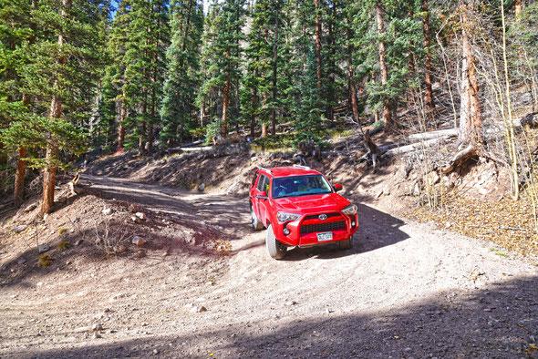 Unterwegs auf der Straße zum Uncompahgre Peak/Colorado.