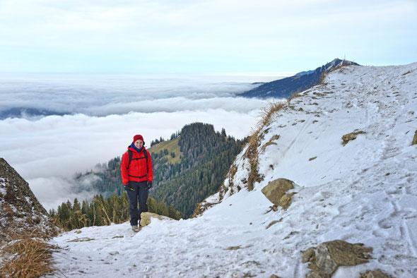 Blick auf das Nebelmeer und den Grünten.
