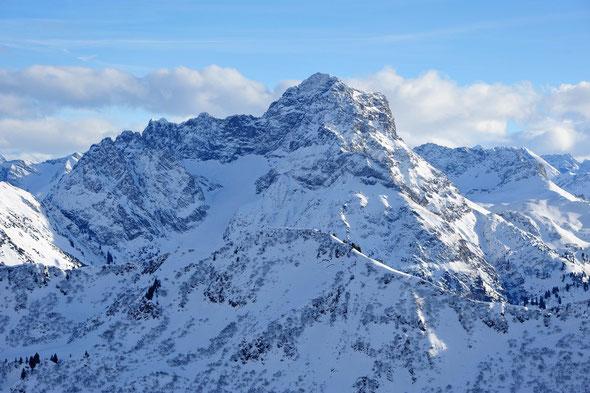 Auch im Winter ein nettes Ziel: der Große Widderstein.