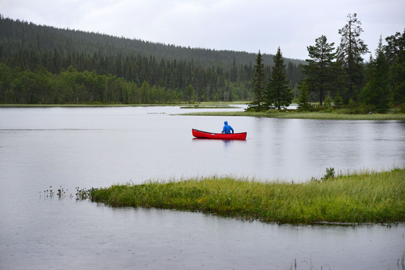 Eher ein Weiher als ein See, aber trotzdem schön: der Nedre Hyntjernet.