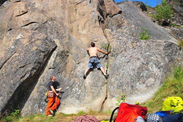 Klein aber fein - das Klettergebiet Slippen auf der Insel Hamarøy!