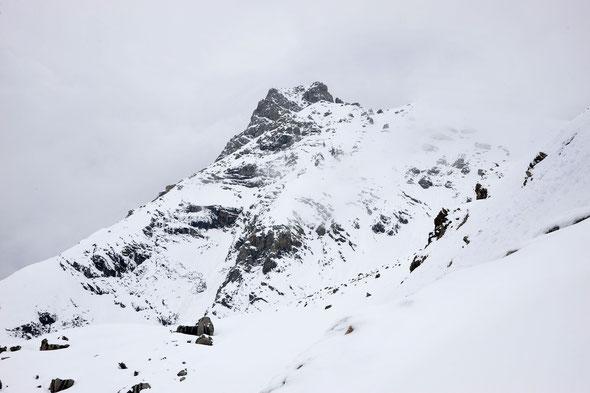Die Holzgauer Wetterspitze - ein toller Skitourenberg! Leider mussten wir wegen Lawinengefahr abbrechen.