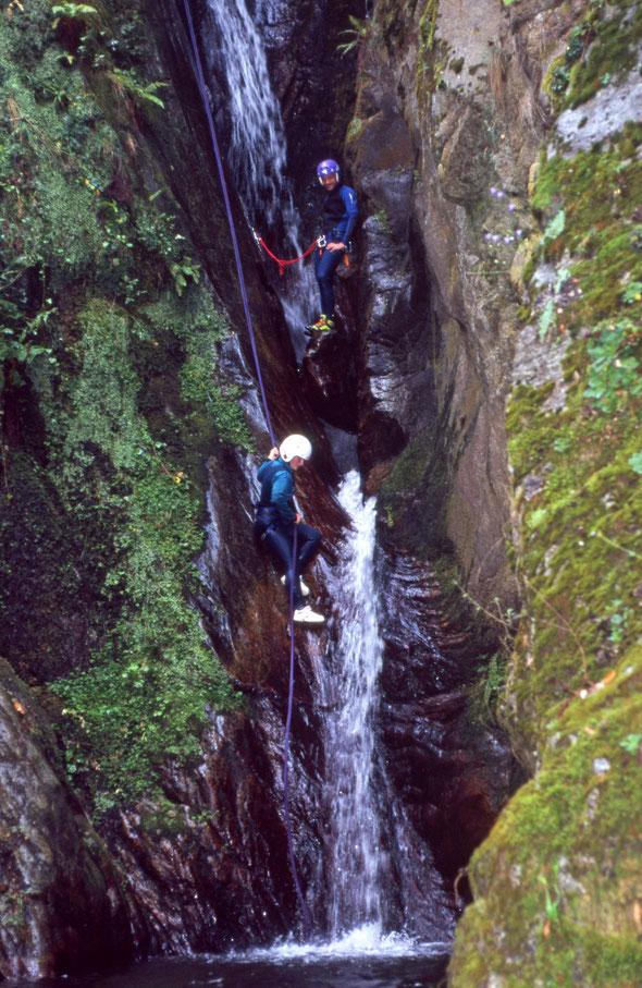 120 Höhenmeter auf 150 Meter Distanz - ein perfekter Canyon für Gehfaule!