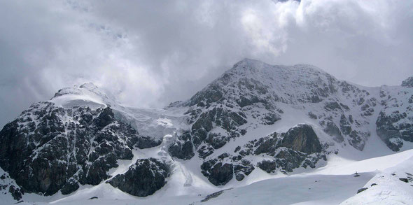Zebru, Suedtirol, Hochtour, Bergsteigen, Winterbergsteigen, Nordwand