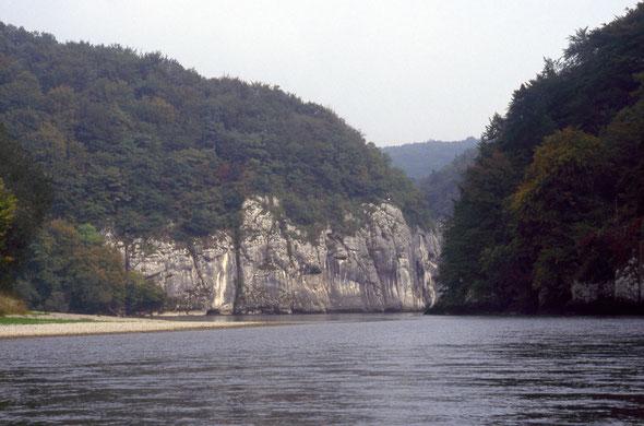 Der Beginn des Durchbruchs gleich nach dem Kloster Weltenburg.
