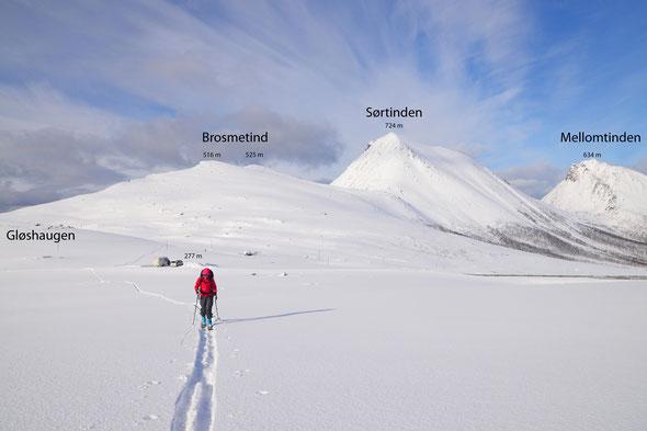 Eine weitere herrliche Einsteigertour auf der Insel Kvaløya: der Brosmetind.