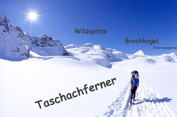 Tirol, Wildspitze, 3770 m, Brochkogel, Taschachferner, Petersenspitze, Pitztaler Gletscher, Skitour, Wintertour, Nordwandklettern, Hochtour