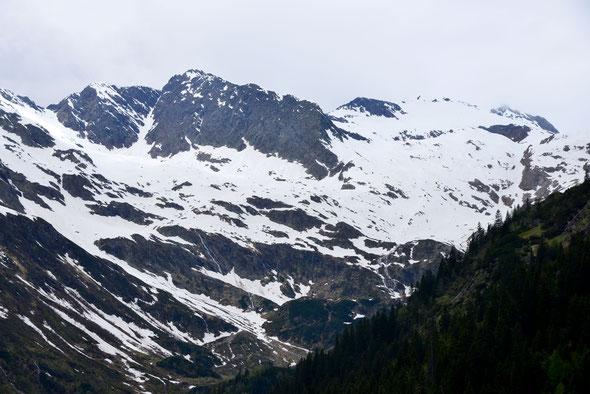 Die Rocholspitze - einer der Gipfel im Talschluss des Pflerschtals