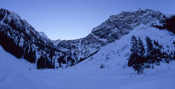 Mitte Januar in der Rubihorn-Nordwand - eine eher frische Angelegenheit!
