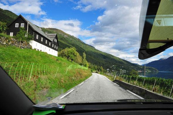 Unterwegs vom Jostedalen nach Kristiansand.