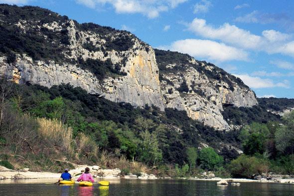 Gard, Gardon, Kaja, Kanu, Zahmwasser, Wildwasser, Tagestour, Südfrankreich, Zentralmassiv