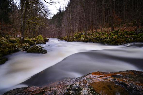 Immer wieder schön: der Drosselberg oder Dießensteiner Leite - die Schluchtstrecke der Ilz.