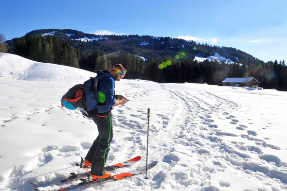 Westlicher Koppachstein, Bregenzer Wald, Skitour, Schneeschuhtour,