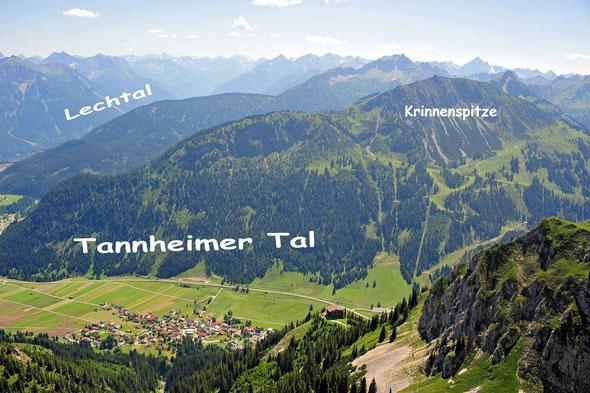 Die Krinnenspitze von der Zwerchwand aus gesehen - leider nur ein Sommerbild.