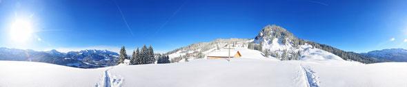 Skitour, Bregenzer Wald, Feuerstätterkopf, Powder