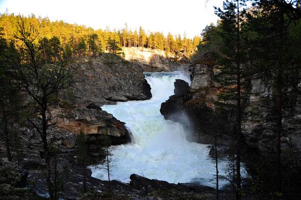 Der große Wasserfall am Ridderspranget bei gut Wasser - einfach nur beeindruckend!