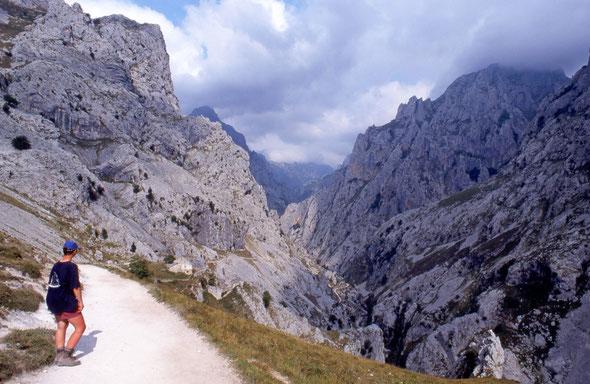 Spanien - Canyons ohne Ende! Hier die Desfiladero de Rio Cares in den Picos de Europa.