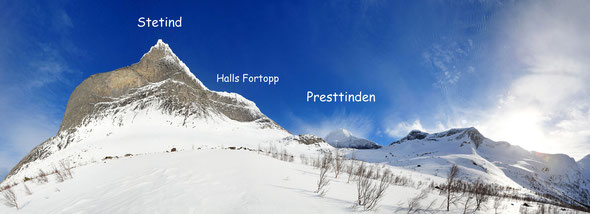 Halls Fortopp, Stetind, Tysfjord, Skitouren, Presttind