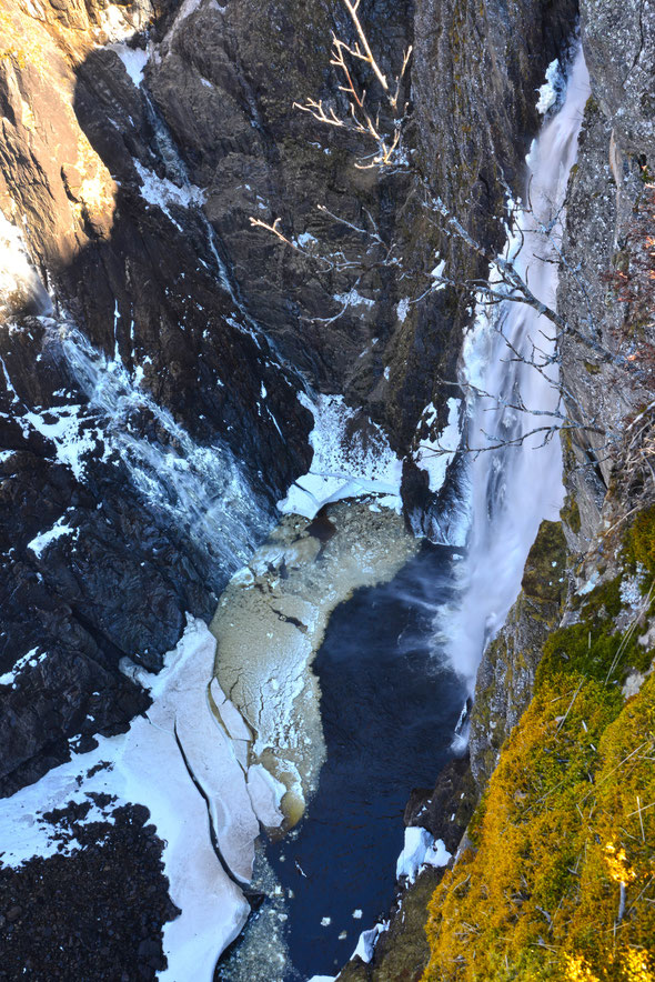Der wohl bekannteste Wasserfall der Hardanger Vidda: der Vøringsfossen.