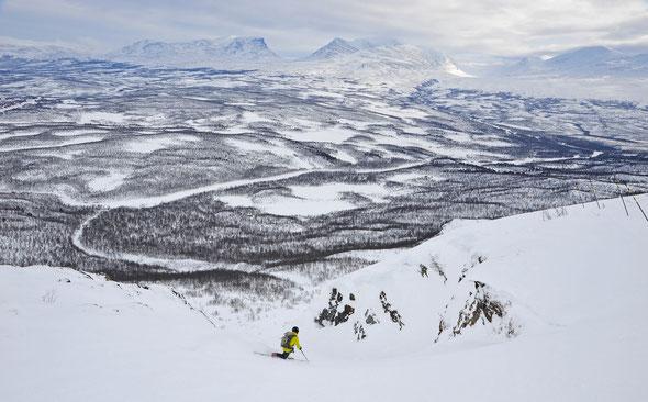 La Grave in schwedisch Lappland: Nuolja - einfach ein cooles Skigebiet!